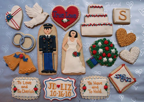 Liz & J.D.'s Wedding Cookies