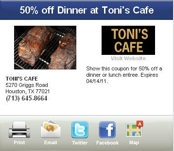 Houston Dinner Coupons