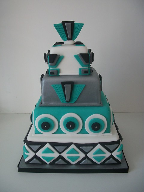 Art Deco Design Cake : Art deco inspired wedding cake Flickr - Photo Sharing!