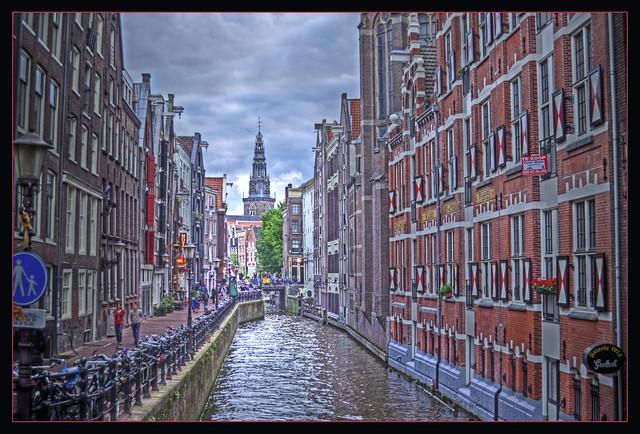 Amsterdam canals by CC user Bert Kaufmann on Flickr