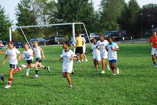 Jóvenes panameños en Soccer Youth Sports Visitors Program