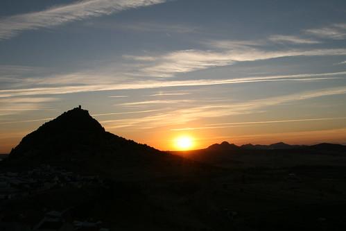 sunset españa sol spain badajoz agosto puestadesol puesta 2010 extremadura alange jesuloca