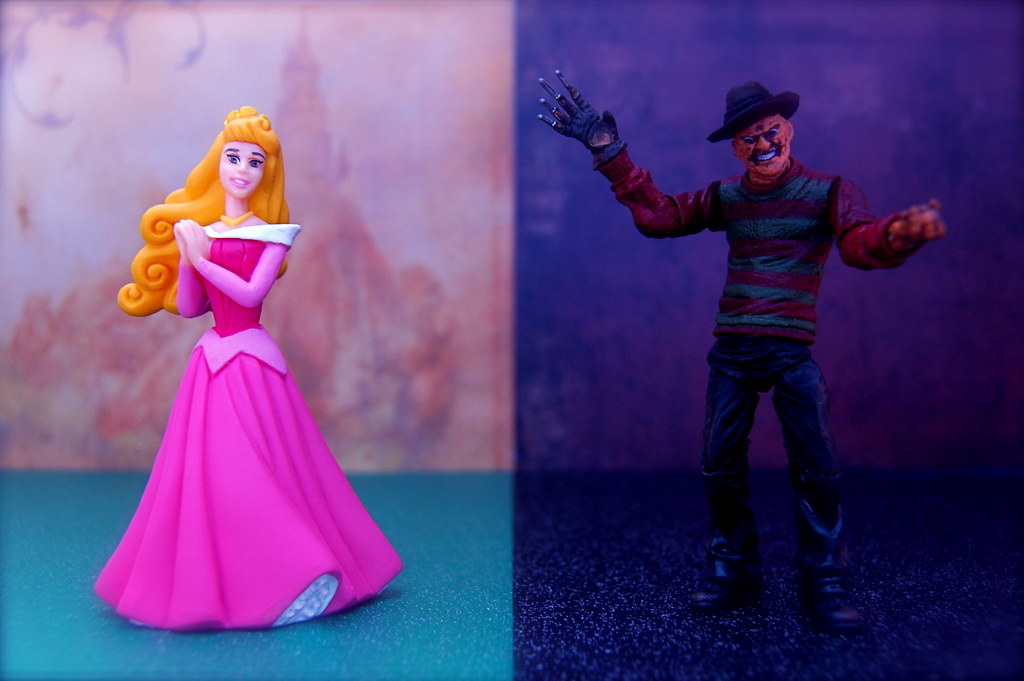 Princess Aurora vs. Freddy Krueger (240/365)