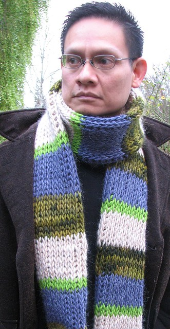 Softee Chunky - Men's Hat & Scarf Set (crochet)
