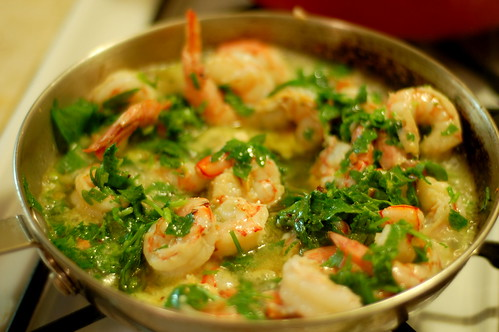 Shrimp Sauce with Garlic and Pepper