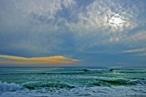 ocean sunset sea sky seascape clouds watercolor seaside florida walton highway30a