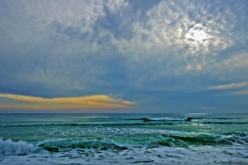 ocean sunset sea sky seascape clouds watercolor seaside florida walton highway30a