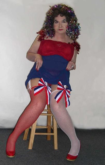 Me...red white blue FLASH...legs