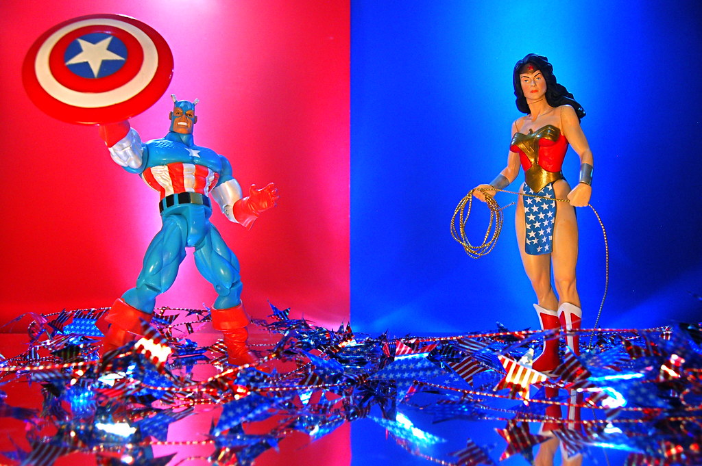 Captain America vs. Wonder Woman (185/365)