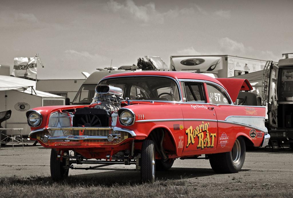 Roarin Rat 1957 Chevrolet Bel Air Coupe Gasser 2010 Nsra