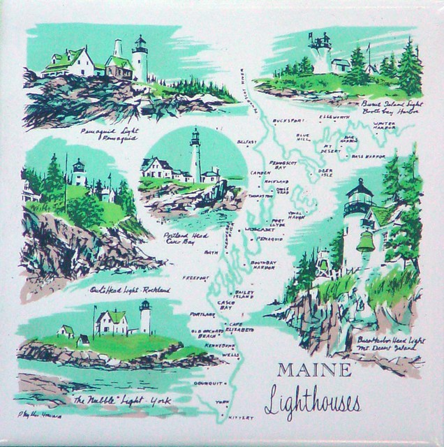 Maine Lighthouses Ceramic Trivet Flickr Photo Sharing