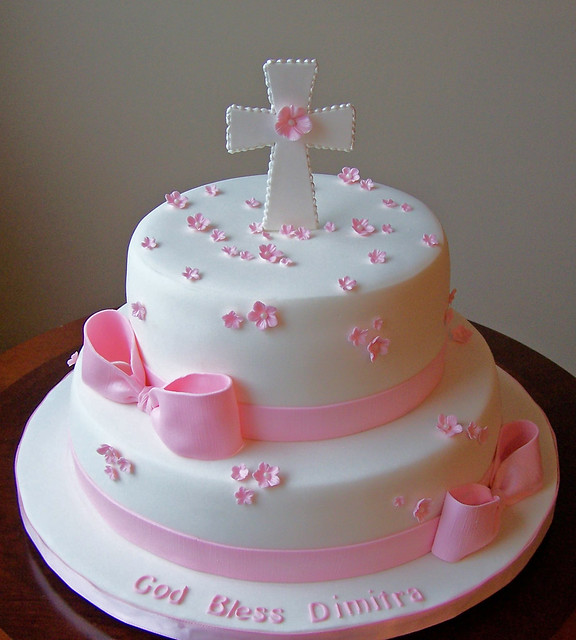 Girl Baptism Cake Flickr Photo Sharing