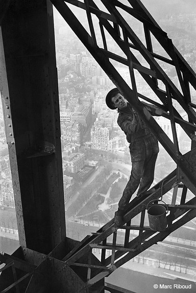 Eiffel Tower Painter, by Marc Riboud 1953