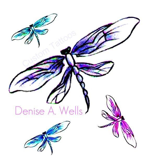 dragonfly tattoo designs by denise a wells flickr photo sharing. Black Bedroom Furniture Sets. Home Design Ideas