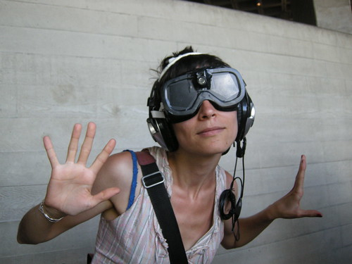 Experimenting with the sonar goggles