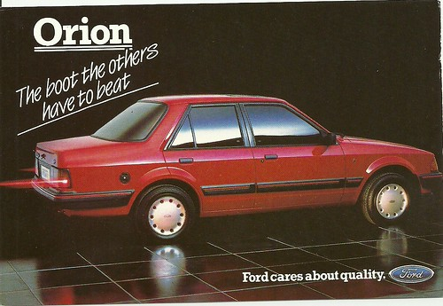 Ford Orion Ghia i Ford Ad Card