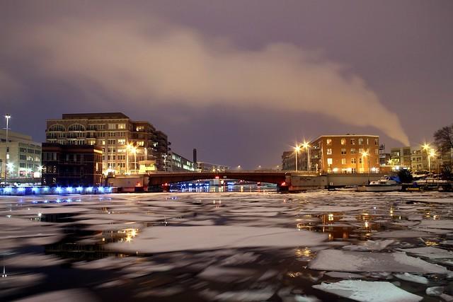 Winter Night on the Milwaukee River