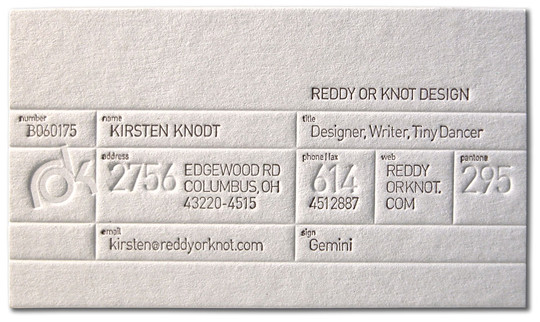 Reddy or Knodt Business Card