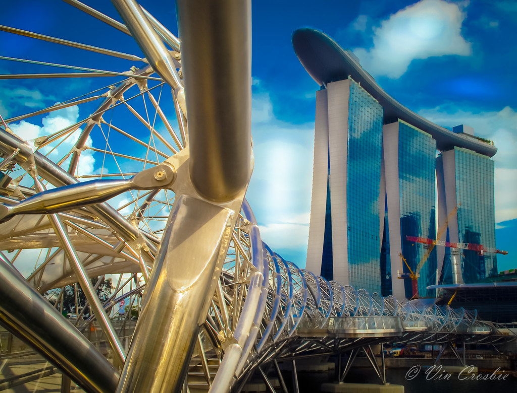 Helices Bridge and Sands Skypark