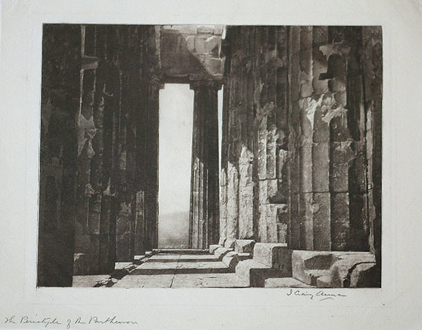 Peristyle of the Parthenon, Athens, by James Craig Annan (before 1890)