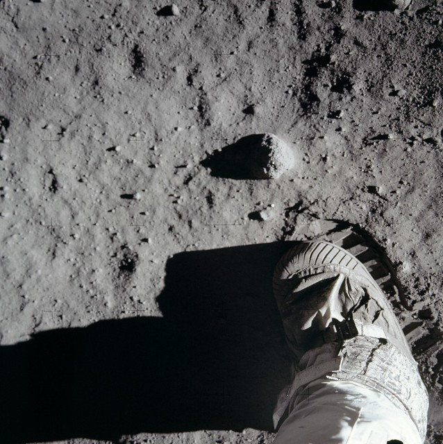 Lunar surface with Astronaut boot
