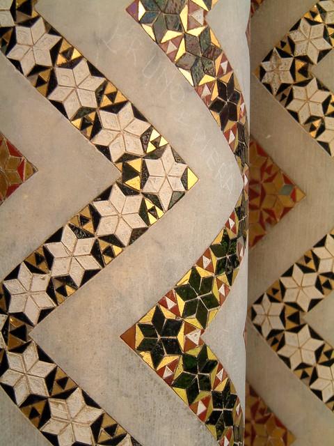 mosaic decoration on Monreale columns | Flickr - Photo Sharing!