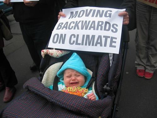 Gillard Climate Change Protest