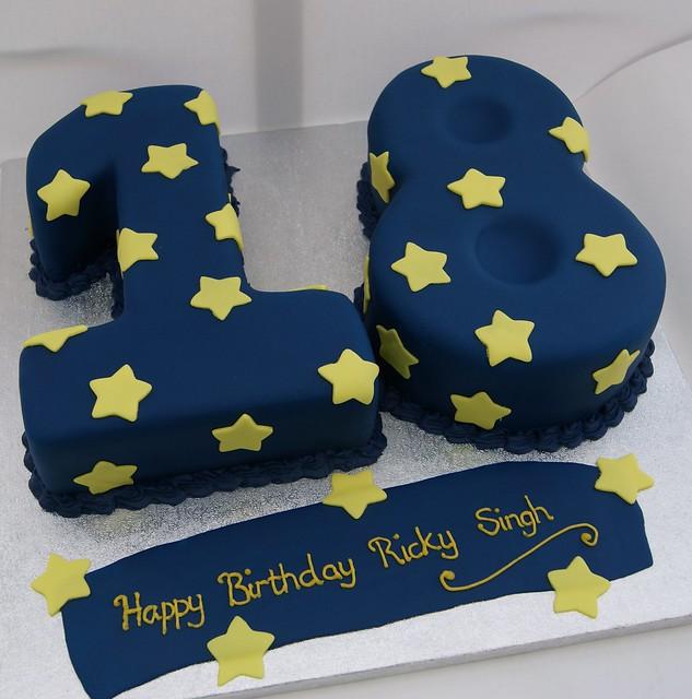 18th Birthday Cake 18 figure birthday cake made with ...