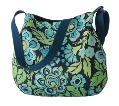 Curvy slouch fabric bag Amy Butler Deco Rose