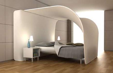 Interieur en design tips op hemelbed met projectie - Scheiding in hout deco interieure ...