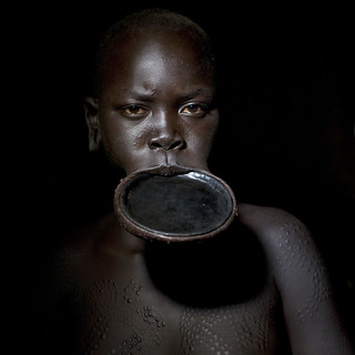 Surma woman with lip plate - Ethiopia