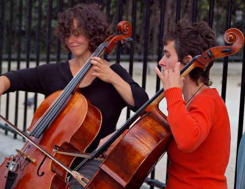 """cello players"" by zoetnet via Flickr CC-BY"