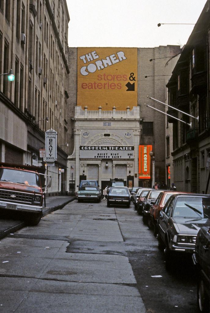 The Orpheum Theater Corner Mall Boston 1984