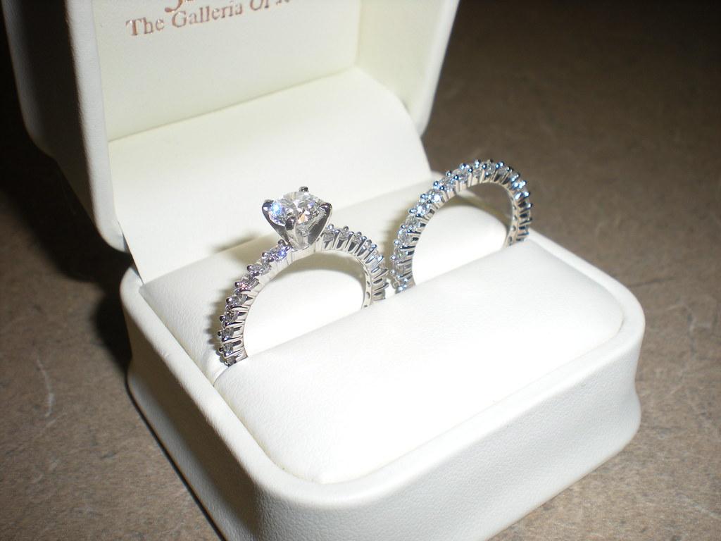 Jared Diamond Enement Ring 1 2 Ct Tw Emerald Cut 14k White Gold