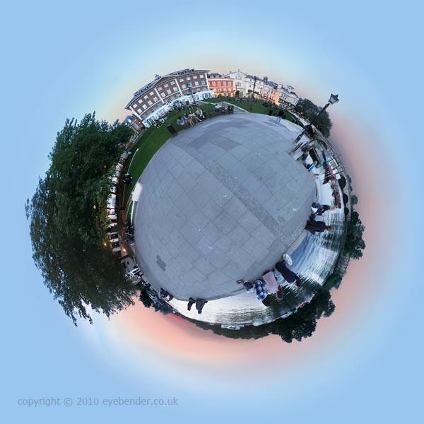 : Richmond Bridge, Richmond-upon-Thames, London : 360 degree circular panorama