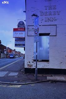 "Yet Another Closed - "" The Derby Inn : Ribbleton Lane / Geoffery St Corner : Preston : Digital Kodak Ektachrome 64 :"