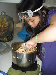 Mixing the Rice Krispies