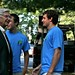 President Reveley chats with move-in volunteers - Opening Day 2010