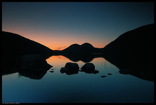 sunset maine nikond50 mountdesertisland jordanpond acadianationalpark justinsmith bubblemountains nikon1735mmf8