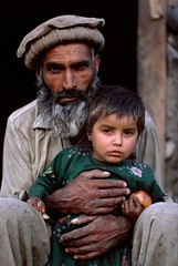 Father and Daughter, Afghanistan, 1984, by Steve McCurry
