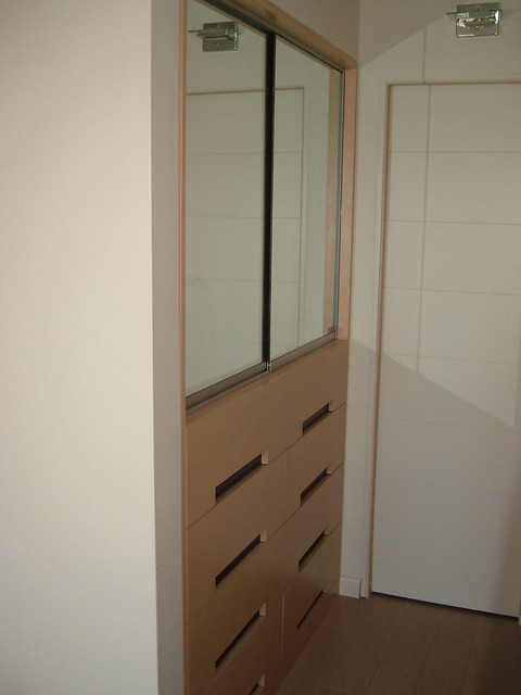 Closet con puertas corredizas de espejo explore cocinas - Puertas de espejo ...