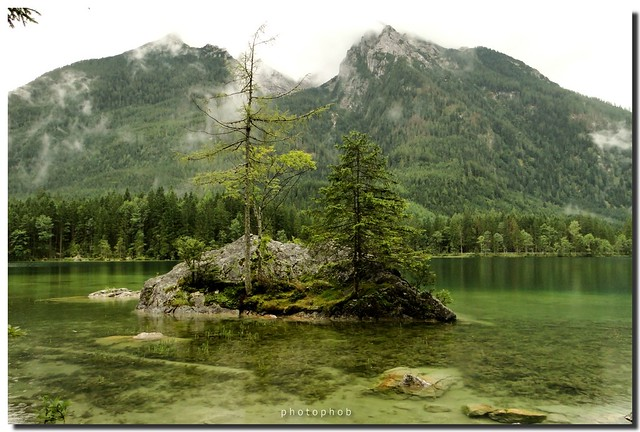 Lake in the Alps - Island of Hintersee