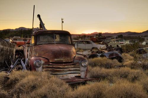 old sunset cars abandoned car truck evening junk rust sundown decay nevada rusty late junkyard hdr carcemetery mygearandmepremium mokastet