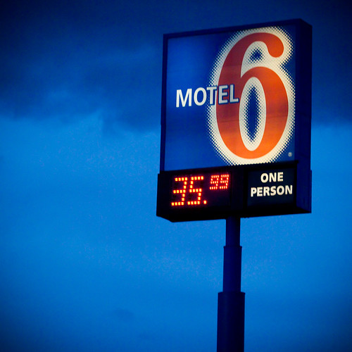 Motel 6, photo by Thomas Hawk