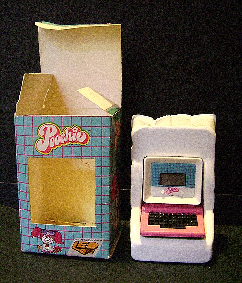 POOCHIE 1987 Mattel Italy LED mini computer watch - orologio MISB