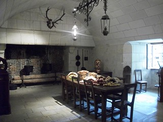 Starlit dining room in the Loire Valley Chateaux
