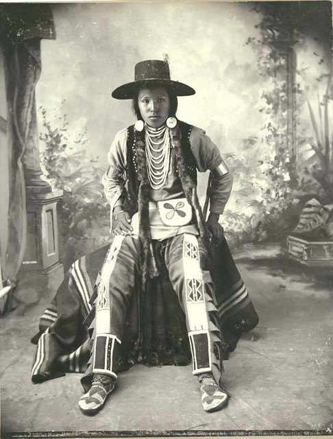 Nez Perce Clothing For Men http://www.flickr.com/photos/uw_digital_images/4951753800/