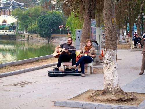 Guitarist near Hoan Kiem Lake