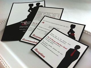 Classic Silhouette Sample Invitation Set