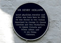 Photo of Henry Holland blue plaque